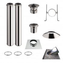KIT 2 TUBOS DE CHIMENEA DOBLE PARED 100CM - Ø 125-150-180-200MM