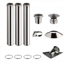KIT 3 TUBOS DE CHIMENEA DOBLE PARED 100CM - Ø 125-150-180-200MM