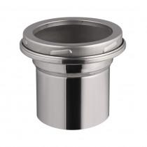 Adaptador en inox - de Ø150mm a 120-130mm